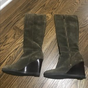 Shoes - Franco Sarto Suede Wedge Boots 7 🔥